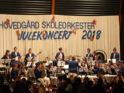 Foto julekoncert Hovedgård skoleorkester